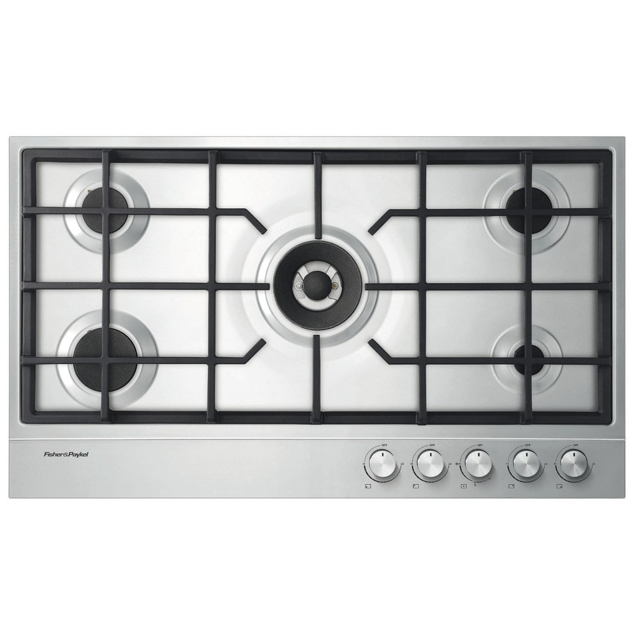 Fisher & Paykel 5-Burner Gas Cooktop (Stainless Steel) (Common: 36-in; Actual: 35.43-in)