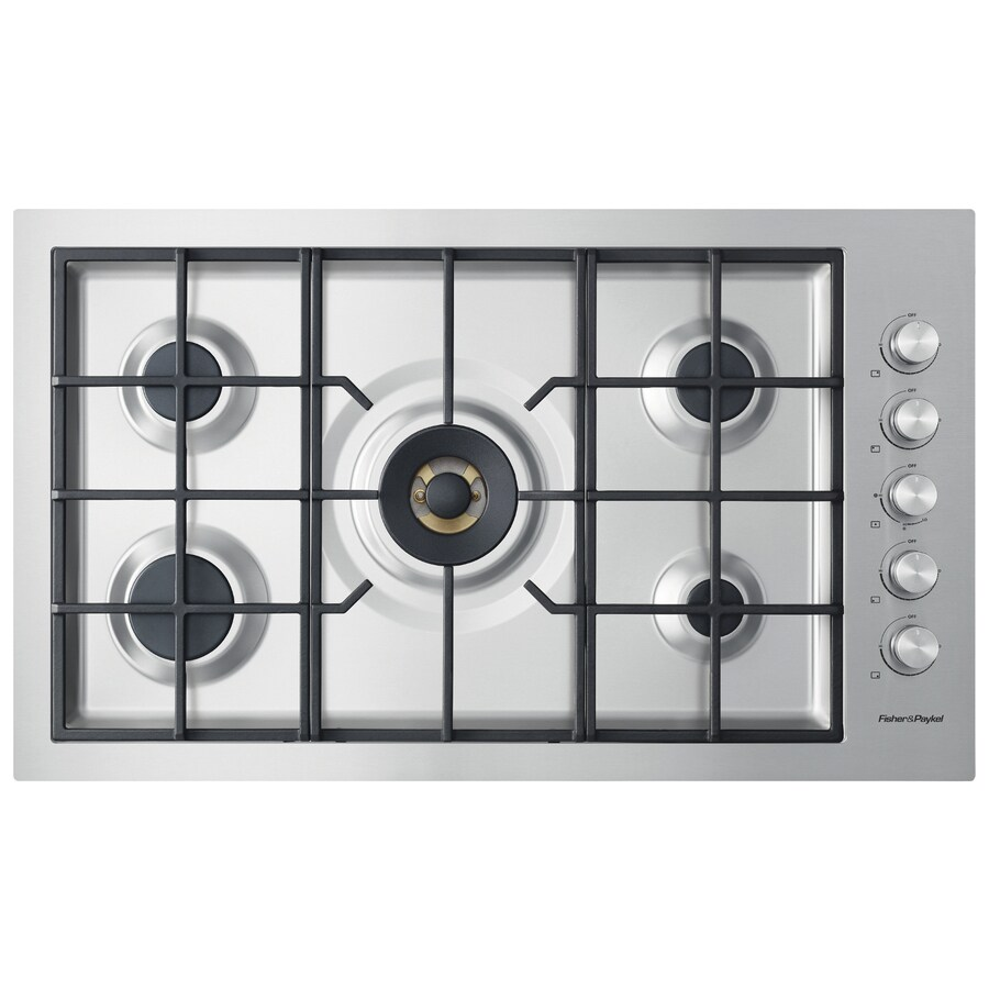Fisher & Paykel 5-Burner Gas Cooktop (Stainless Steel) (Common: 36-in; Actual: 35.5-in)
