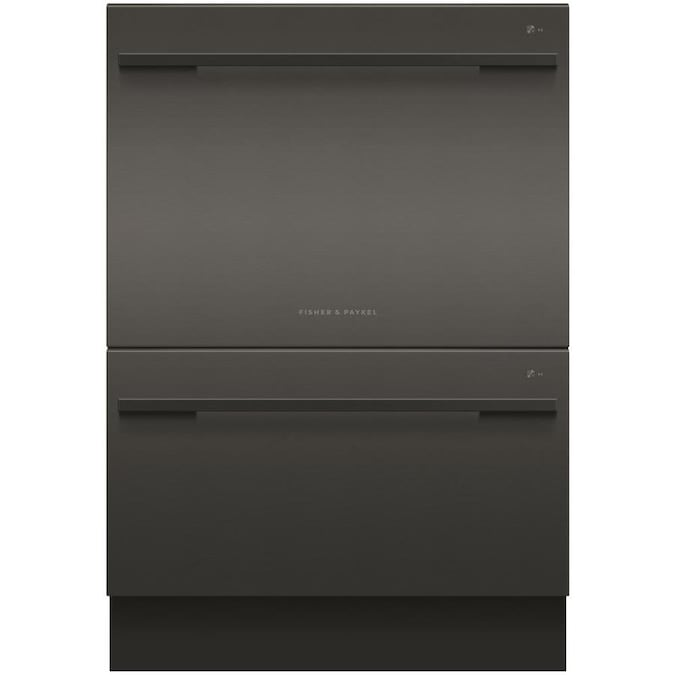 Fisher & Paykel 44-Decibel 24-in Double Drawer Dishwasher (Black) ENERGY STAR