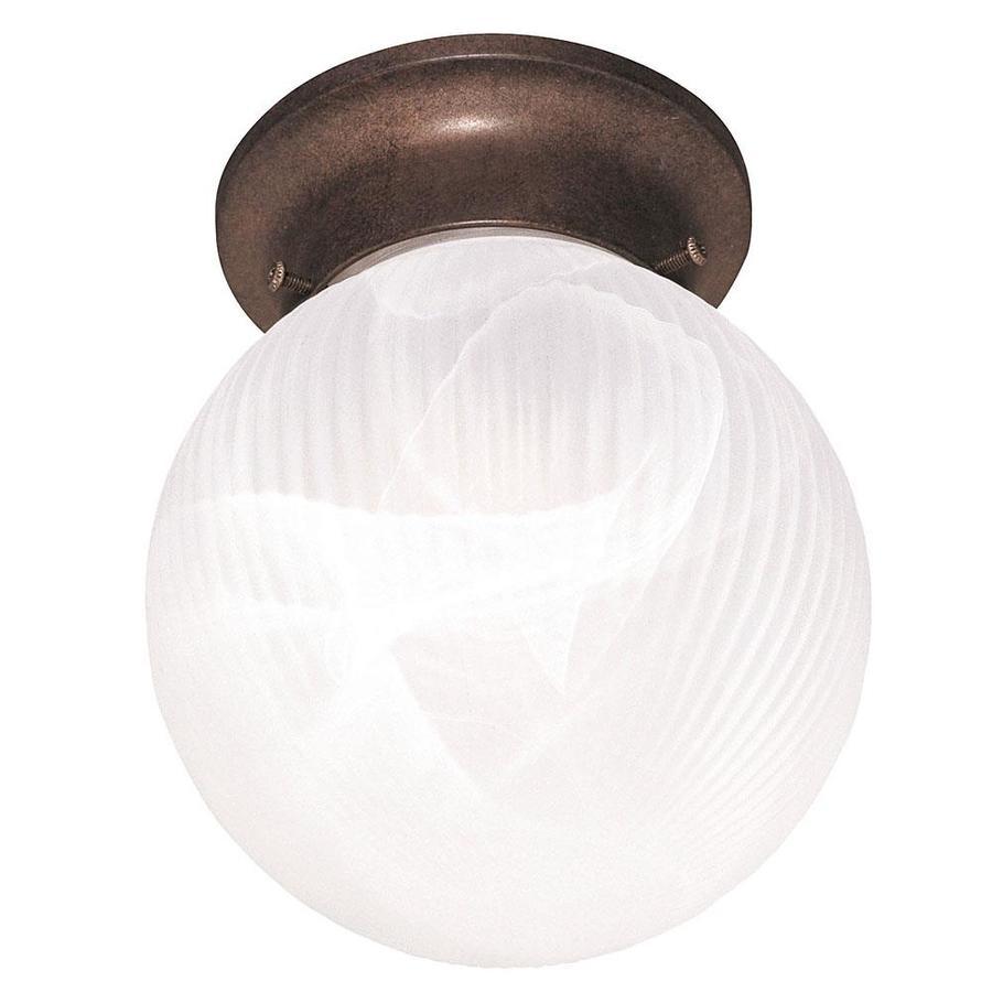 6-in W Brownstone Ceiling Flush Mount Light