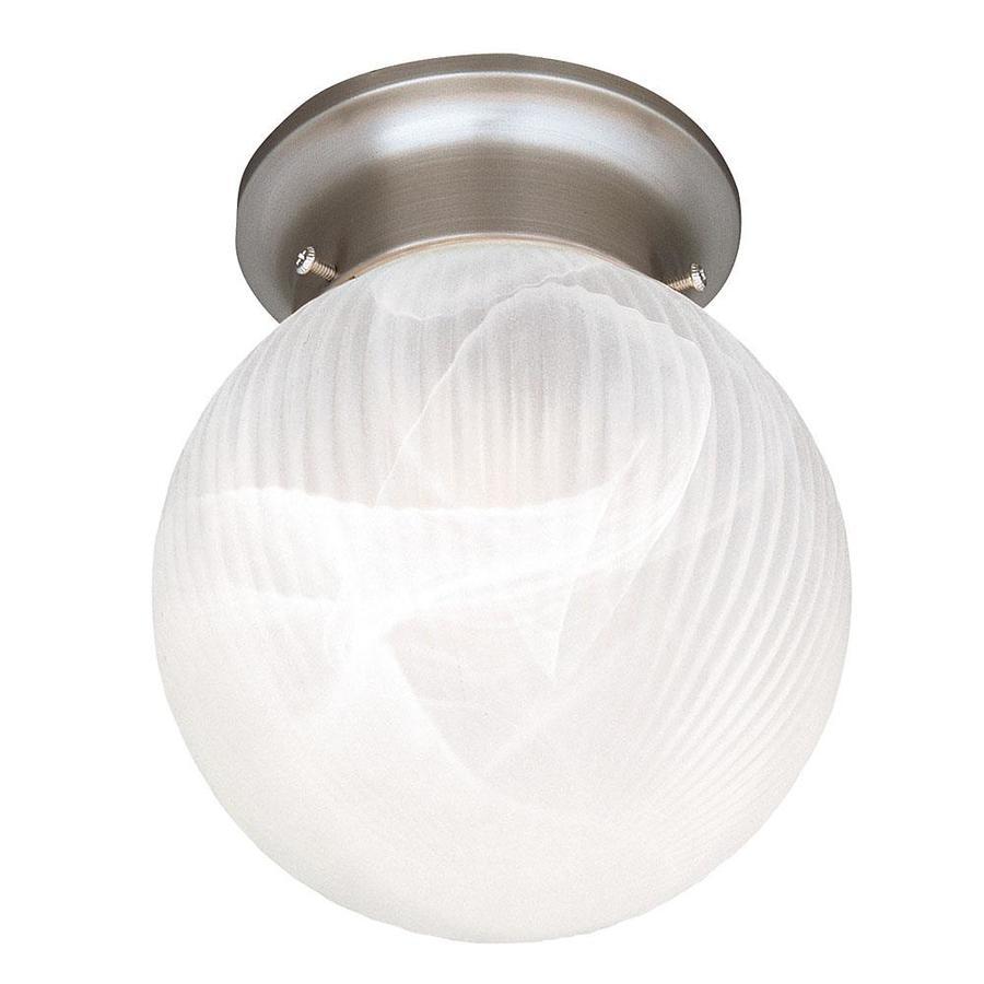 6-in W Satin Nickel Ceiling Flush Mount Light