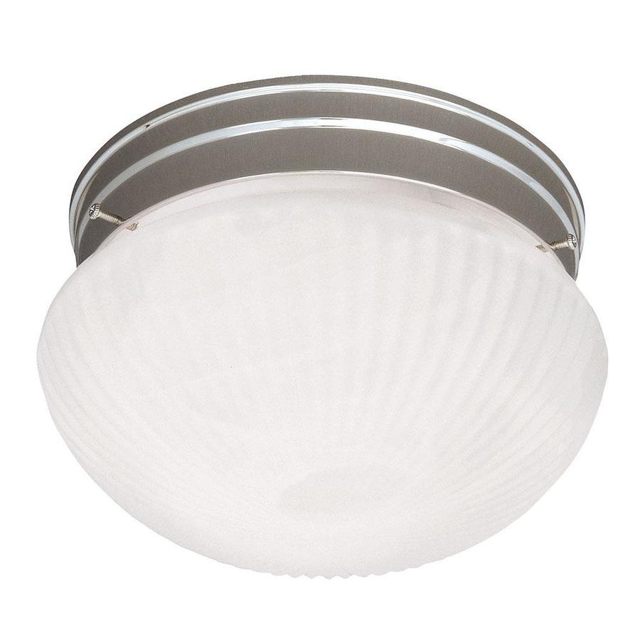 9-in W Satin Nickel Ceiling Flush Mount Light