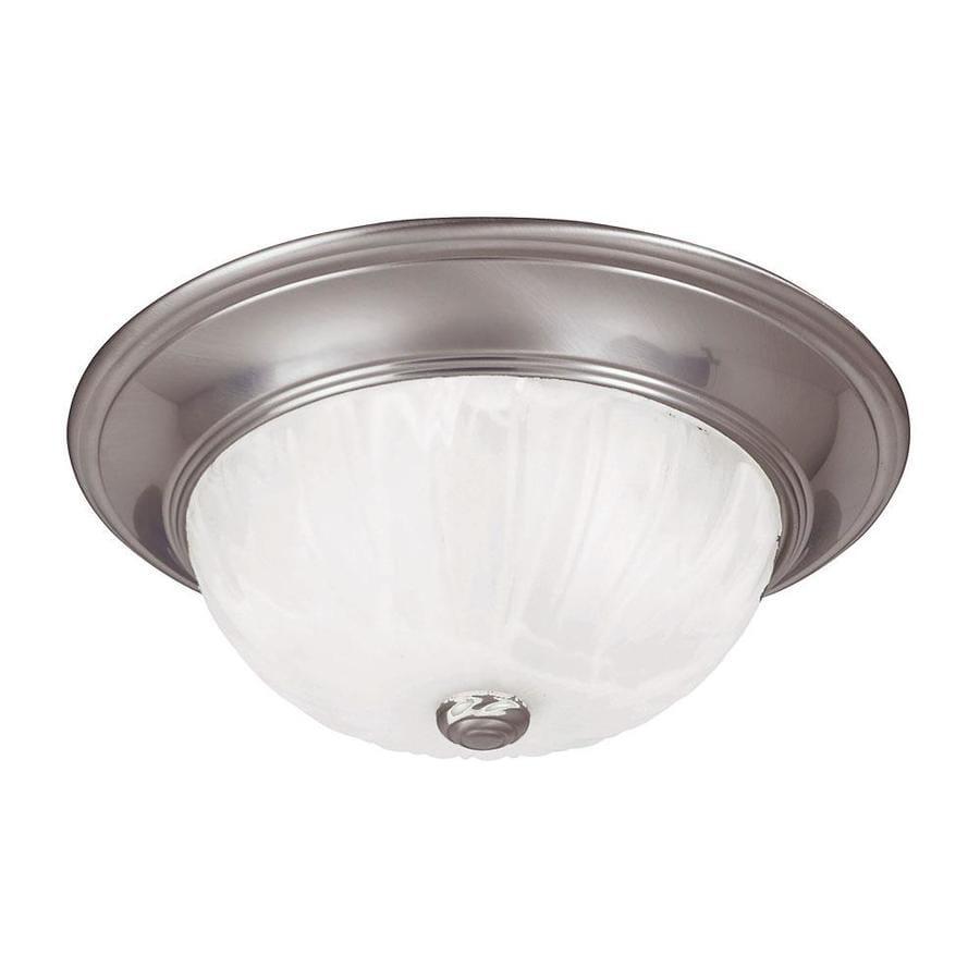 11-in W Satin Nickel Ceiling Flush Mount Light