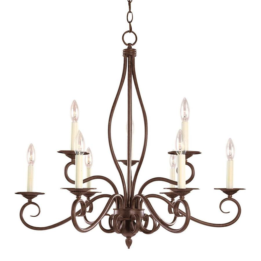 Shandy 29.25-in 9-Light Sunset Bronze Candle Chandelier