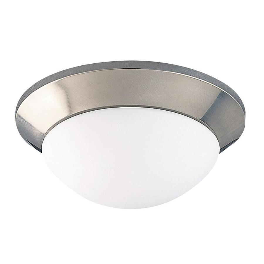 10-in W Satin Nickel Ceiling Flush Mount Light