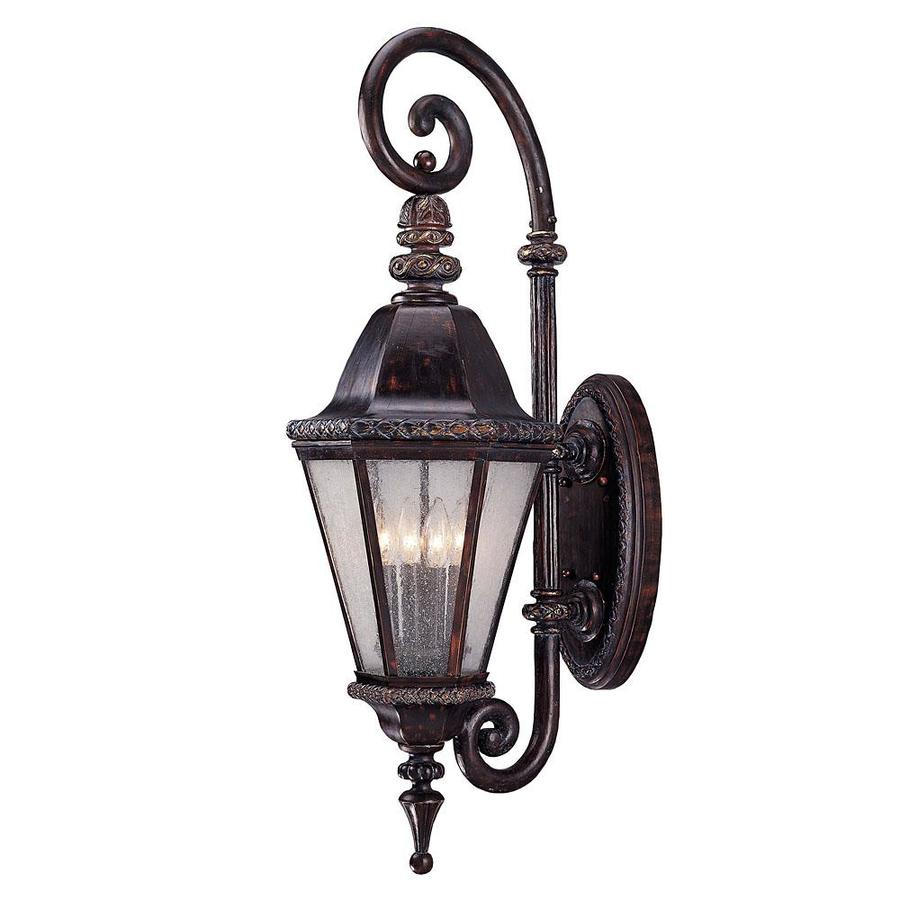 35.5-in H Bark and Gold Outdoor Wall Light