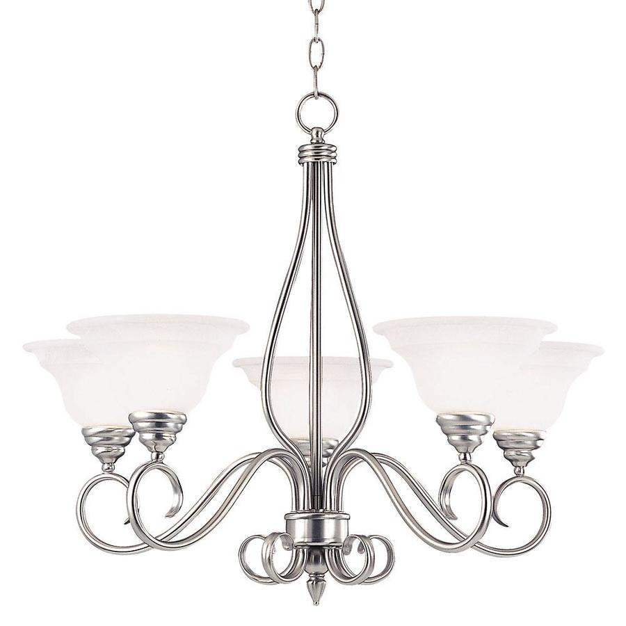 Shandy 28-in 5-Light Pewter Candle Chandelier