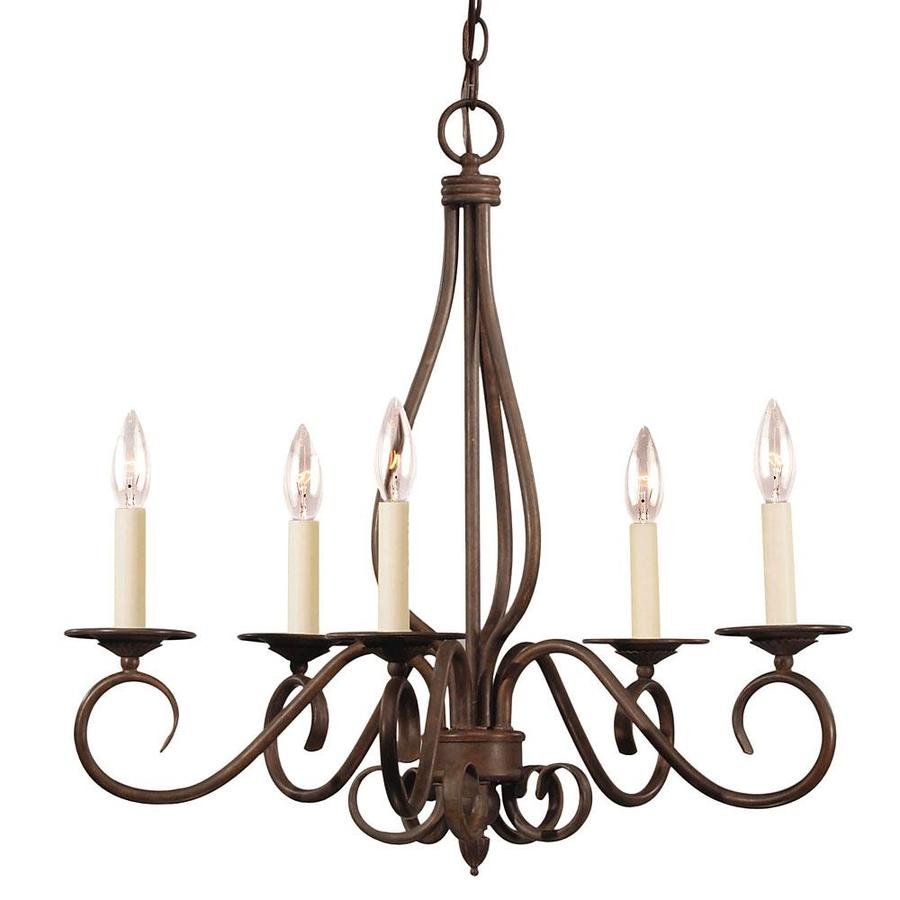 Shandy 24-in 5-Light Sunset Bronze Candle Chandelier
