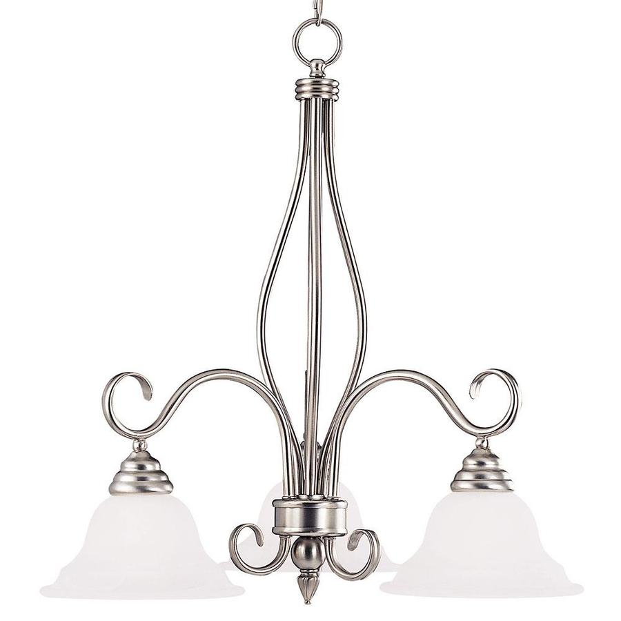 Shandy 23-in 3-Light Pewter Candle Chandelier