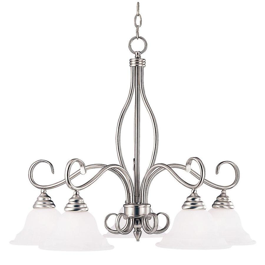 Shandy 29.25-in 5-Light Pewter Candle Chandelier