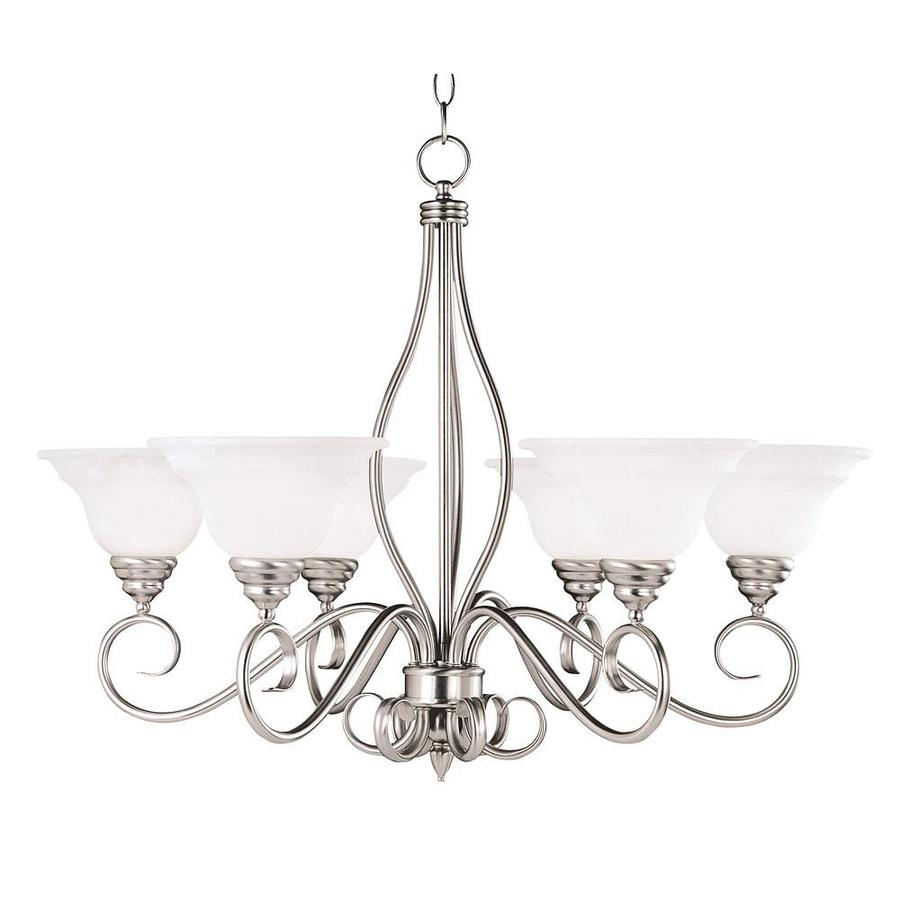 Shandy 32.75-in 6-Light Pewter Candle Chandelier