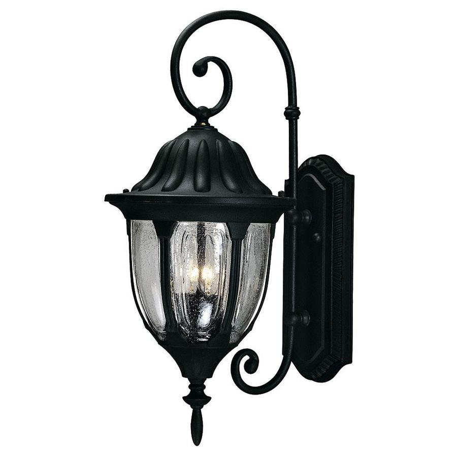 21.75-in H Textured Black Outdoor Wall Light