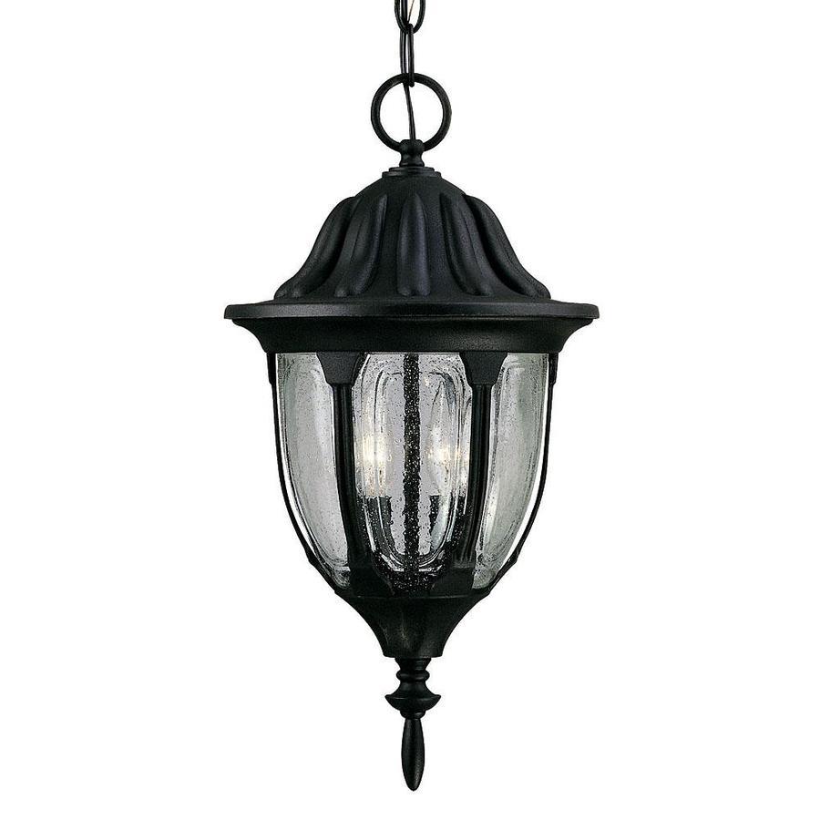 Montanari 17.62-in Textured Black Outdoor Pendant Light
