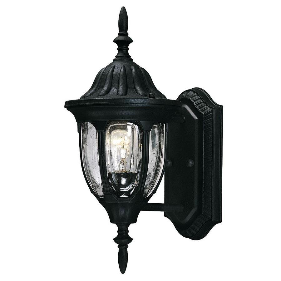14.5-in H Textured Black Outdoor Wall Light