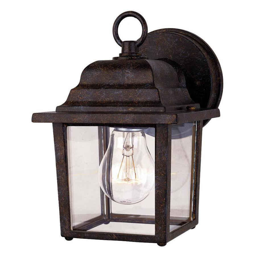 Large Rustic Finish Lantern Wall Mounted Light Sconce: Shop 9-in H Rustic Bronze Outdoor Wall Light At Lowes.com