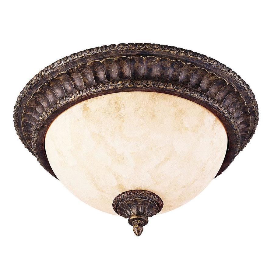 13.5-in W New Tortoise Shell Ceiling Flush Mount Light