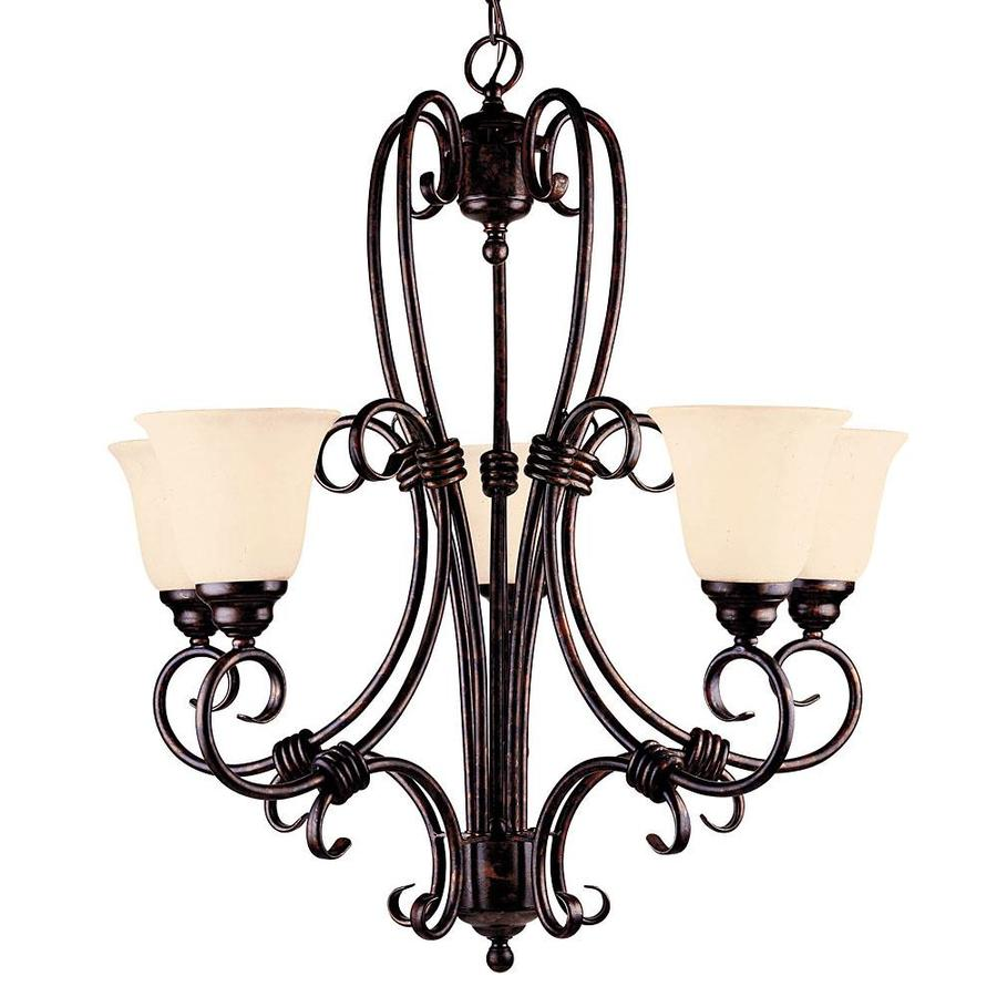 Shandy 27.5-in 5-Light New Tortoise Shell Candle Chandelier