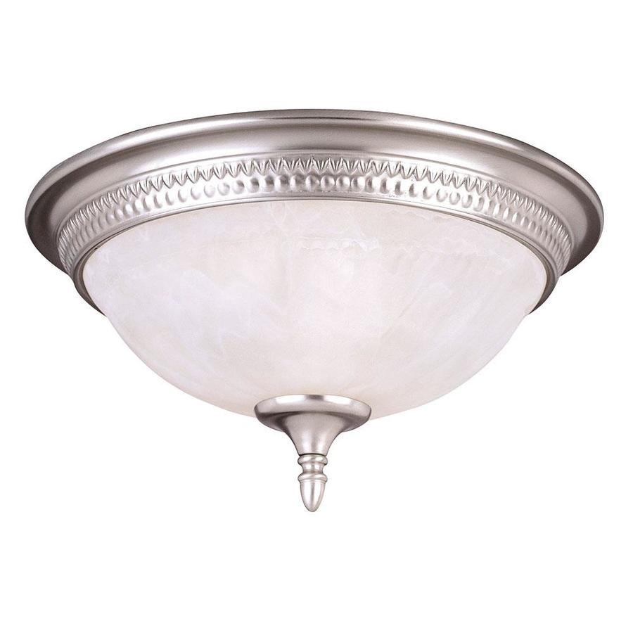 15-in W Pewter Ceiling Flush Mount Light