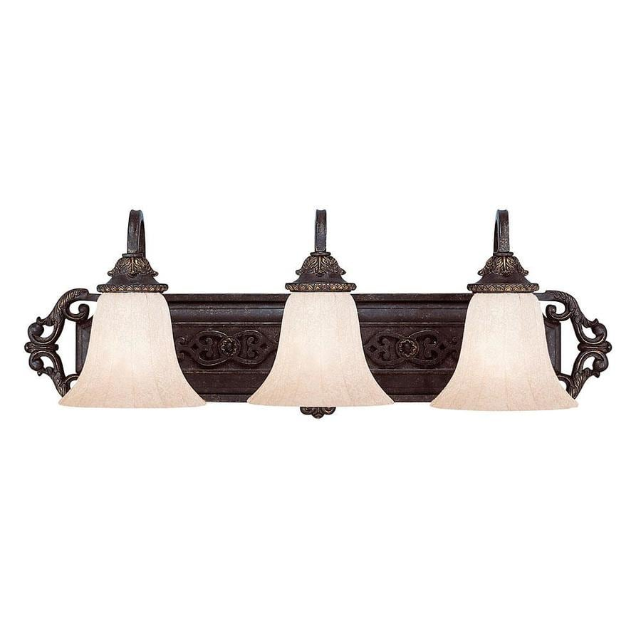 Antique Bathroom Vanity Lights : Shop Shandy 3-Light Antique Copper Vanity Light at Lowes.com