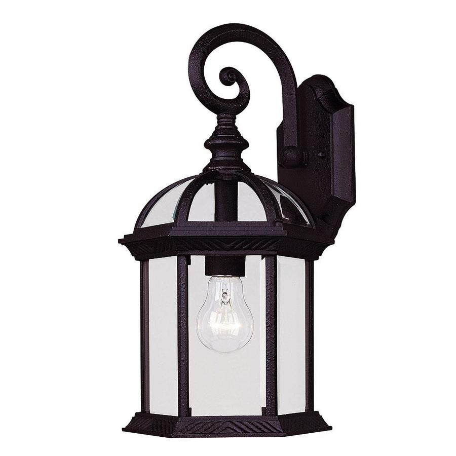 15.75-in H Textured Black Outdoor Wall Light