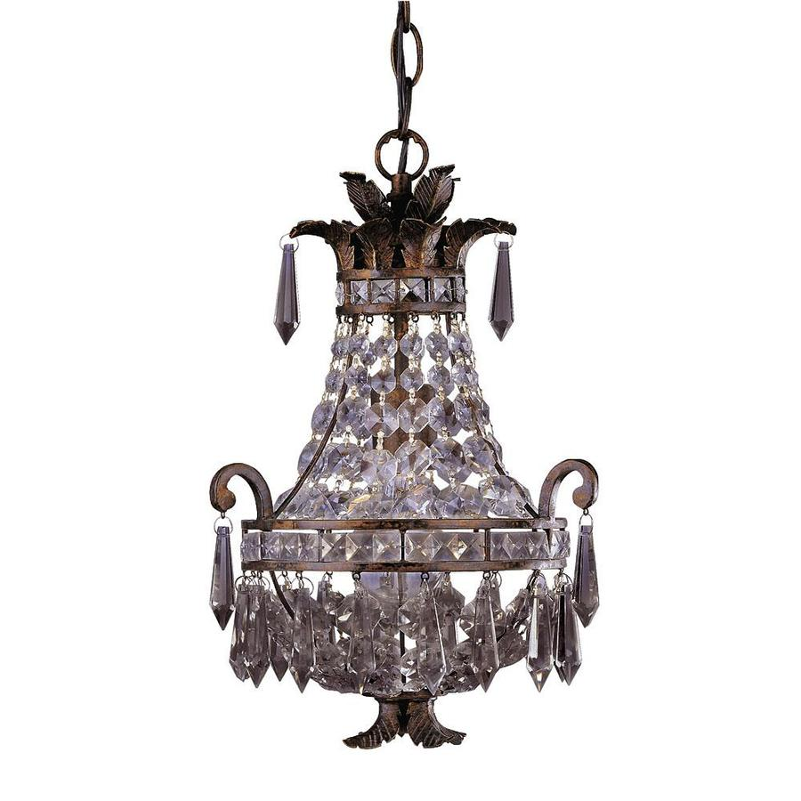 Shandy 10-in 1-Light New Tortoise Shell Clear Glass Candle Chandelier