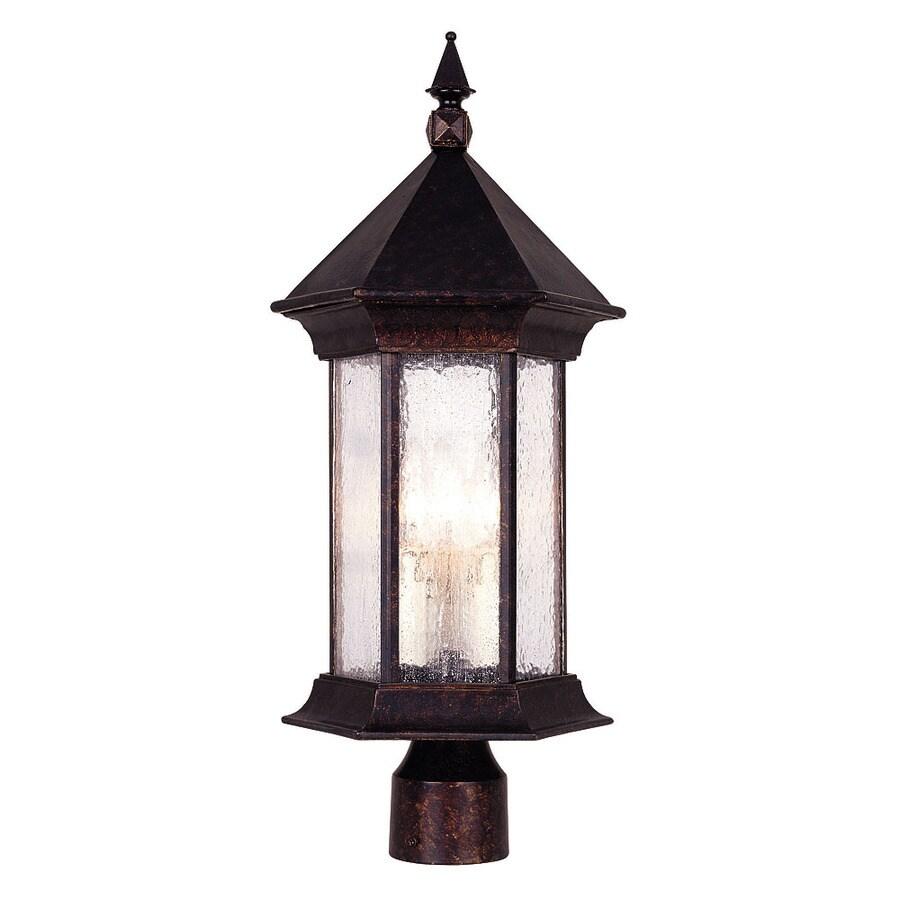 22.62-in H Oily Bronze Post Light