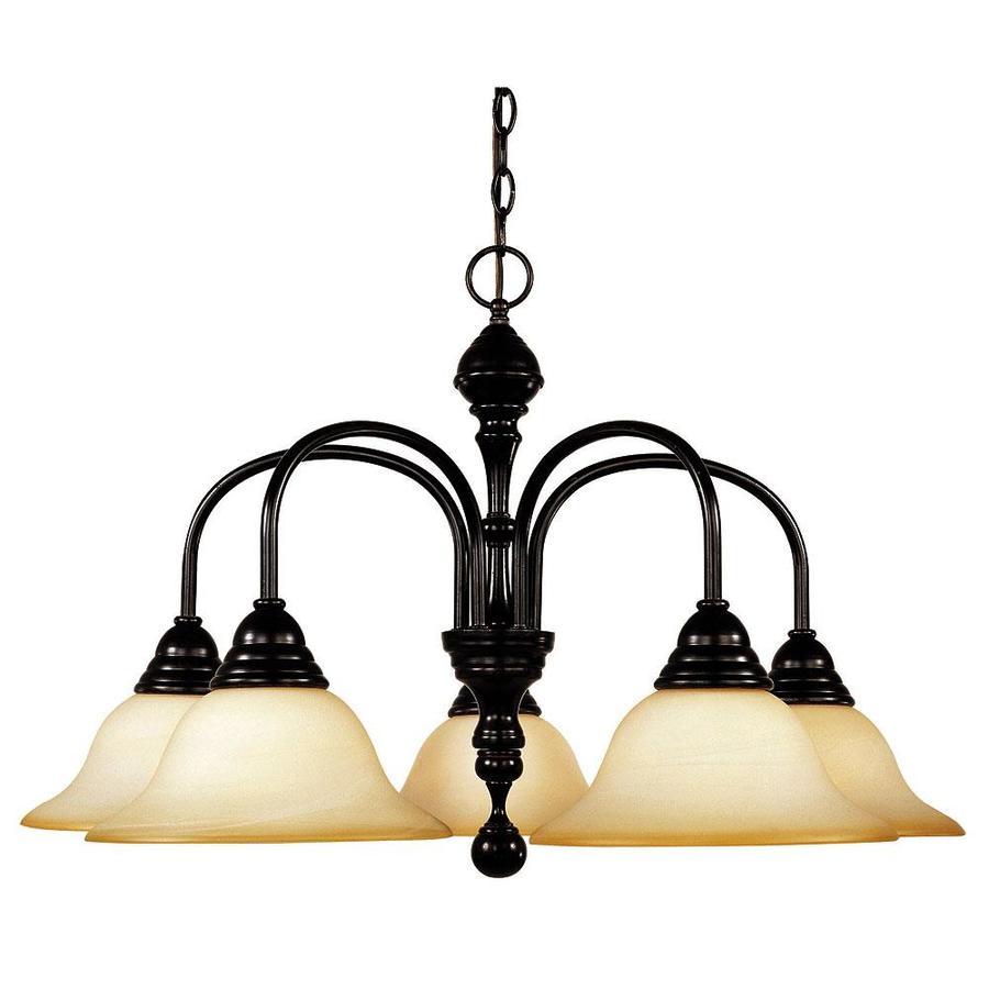 Shandy 28.75-in 5-Light English Bronze Candle Chandelier