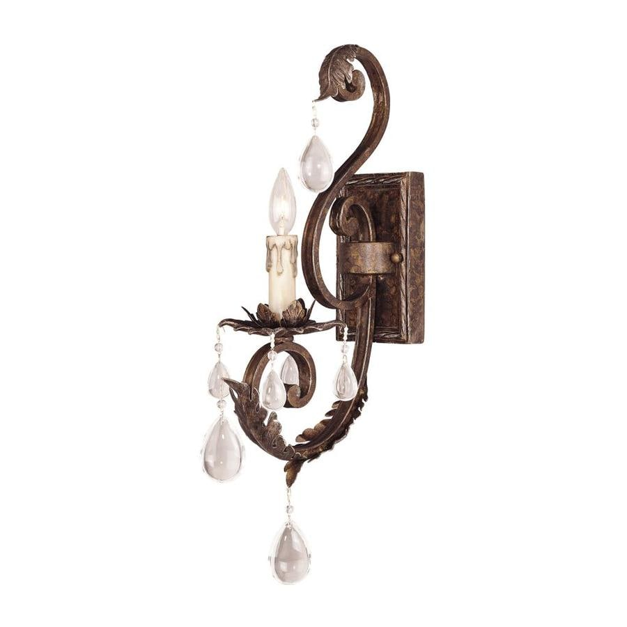 Shandy 5.5-in W 1-Light New Tortoise Shell W/Silver Arm Hardwired Wall Sconce