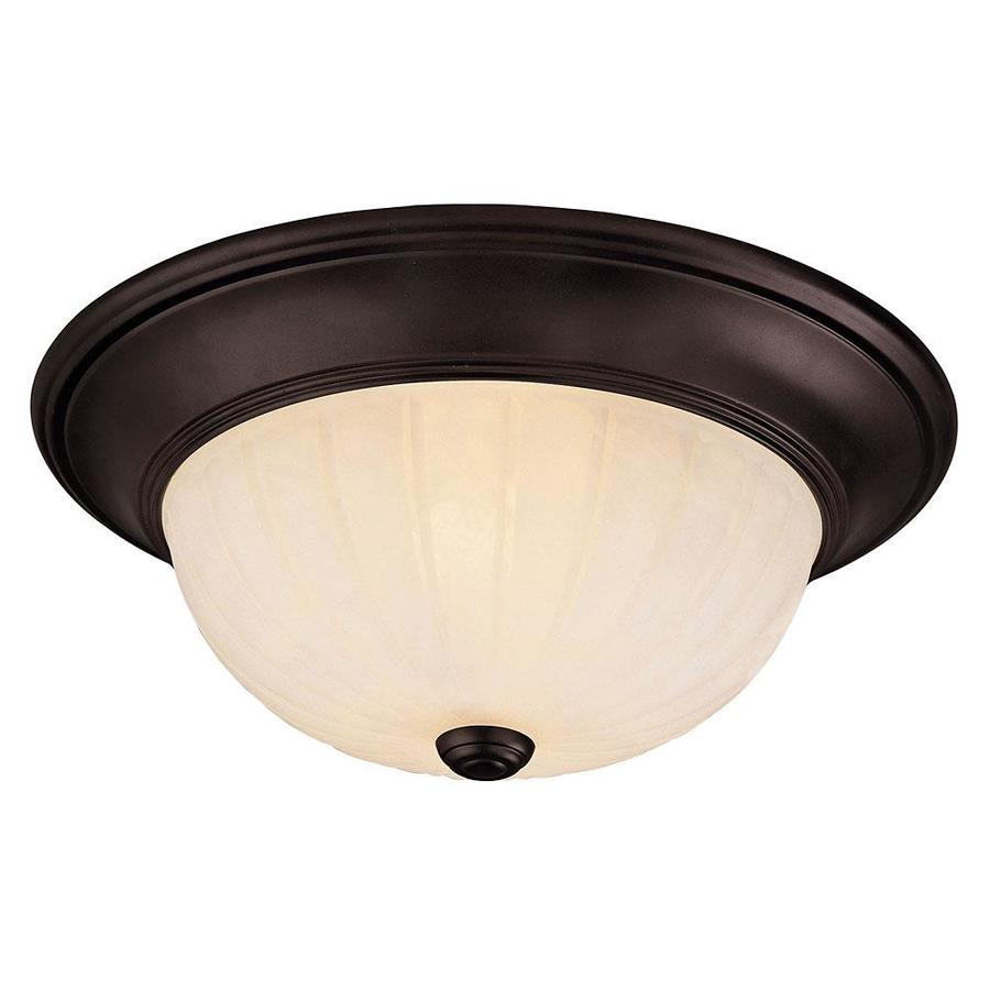 13-in W English Bronze Ceiling Flush Mount Light