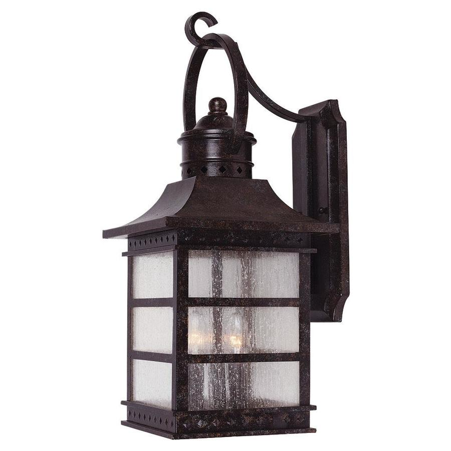 Shop 28 5 In H Rustic Bronze Outdoor Wall Light At