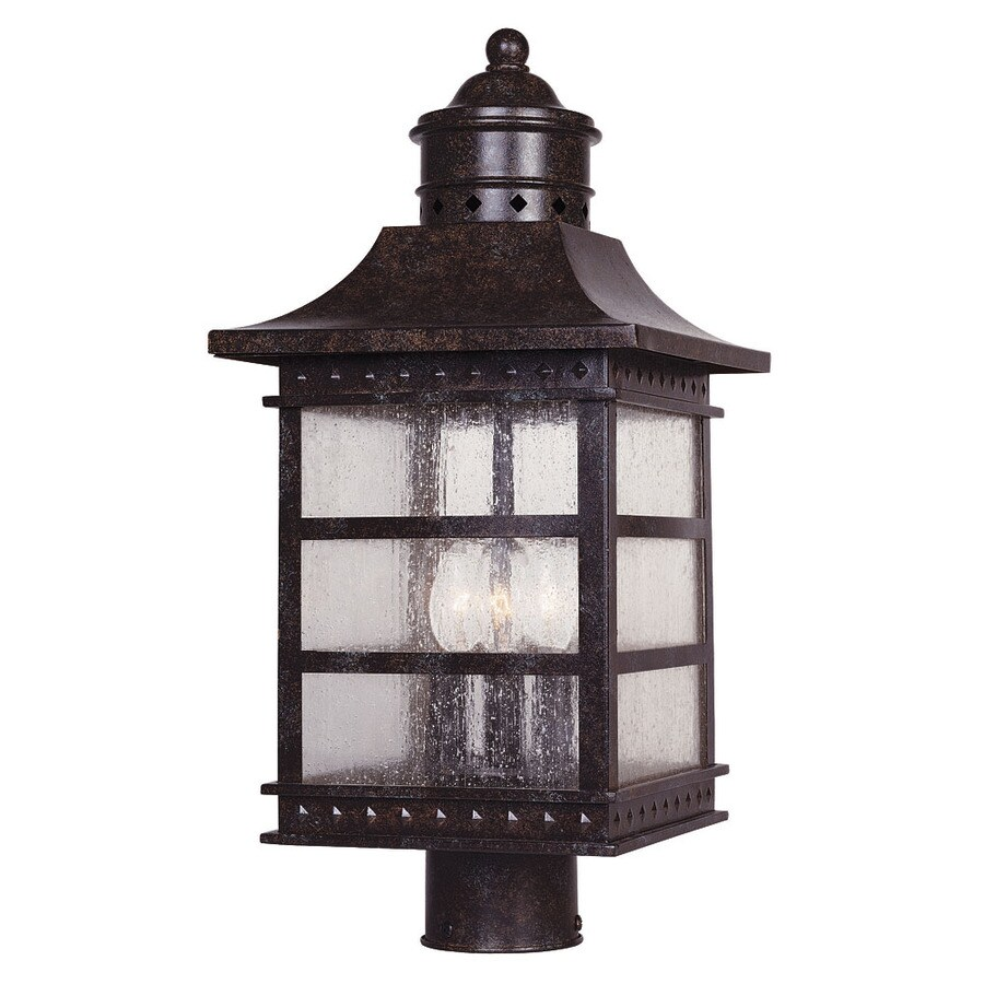 19.5-in H Rustic Bronze Post Light