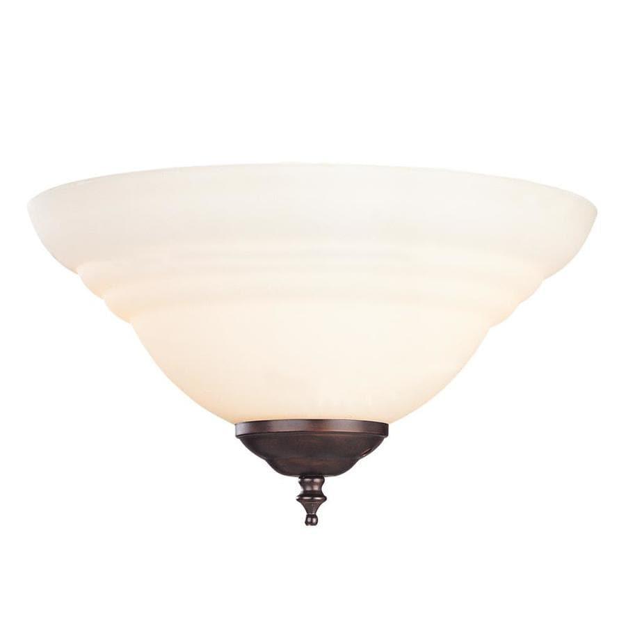 2-Light English Bronze Incandescent Ceiling Fan Light Kit