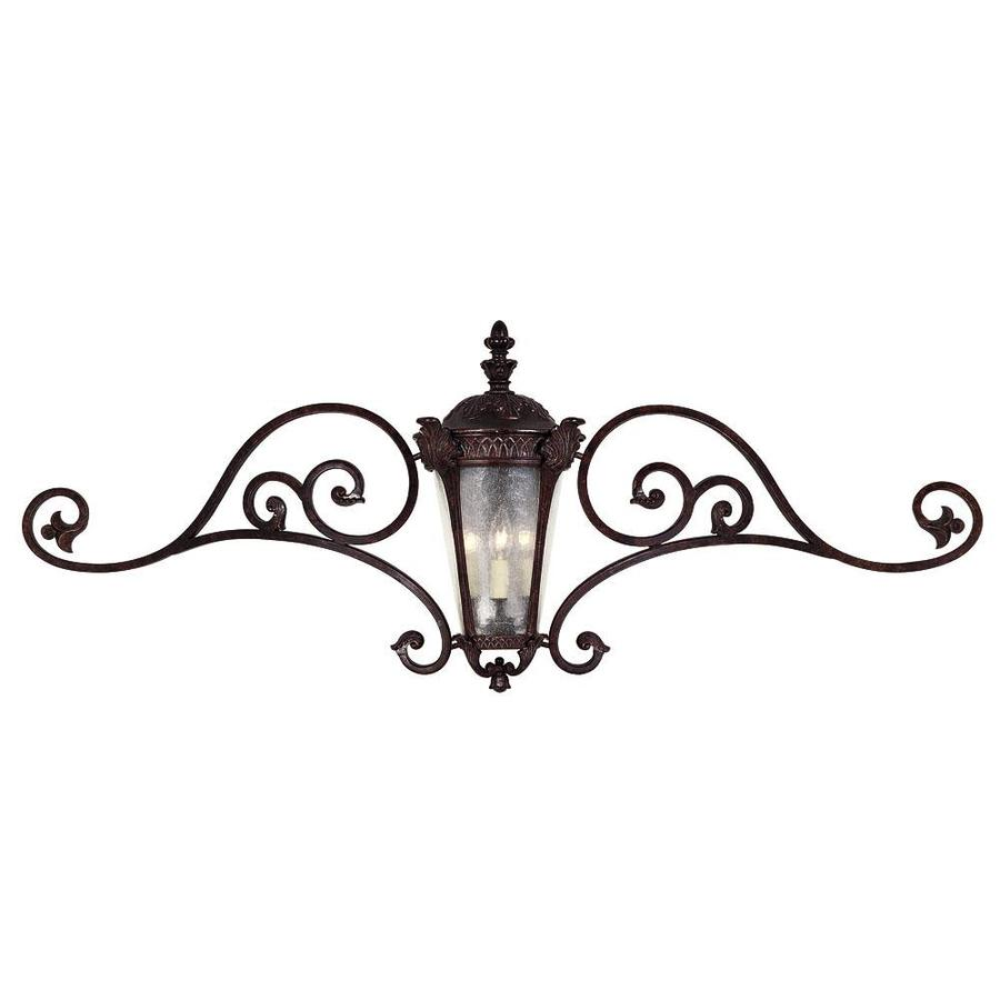 20.87-in H Distressed Bronze Outdoor Wall Light