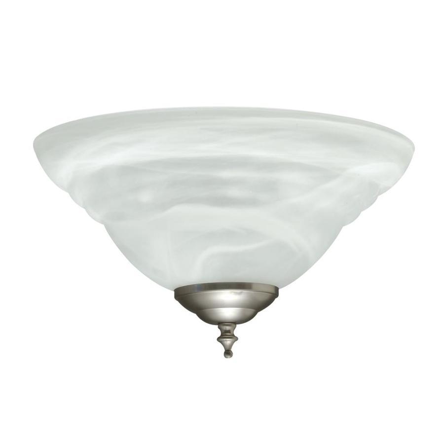 2-Light Satin Nickel Incandescent Ceiling Fan Light Kit