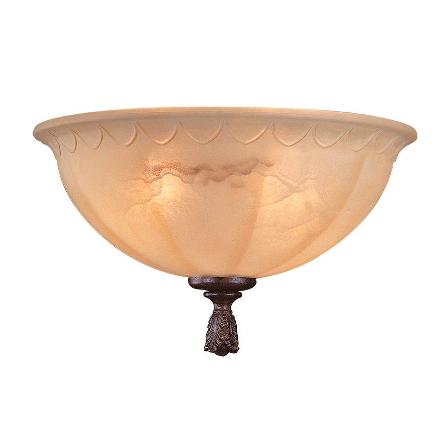 2-Light Walnut Patina Incandescent Ceiling Fan Light Kit
