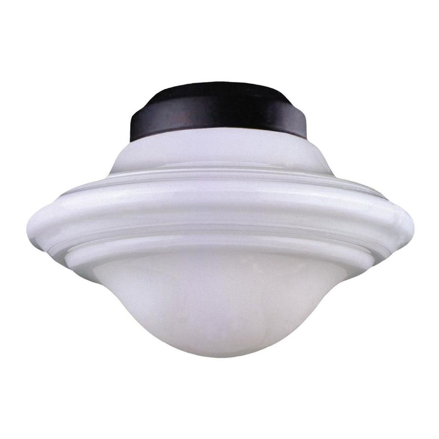1-Light Flat Black Incandescent Ceiling Fan Light Kit