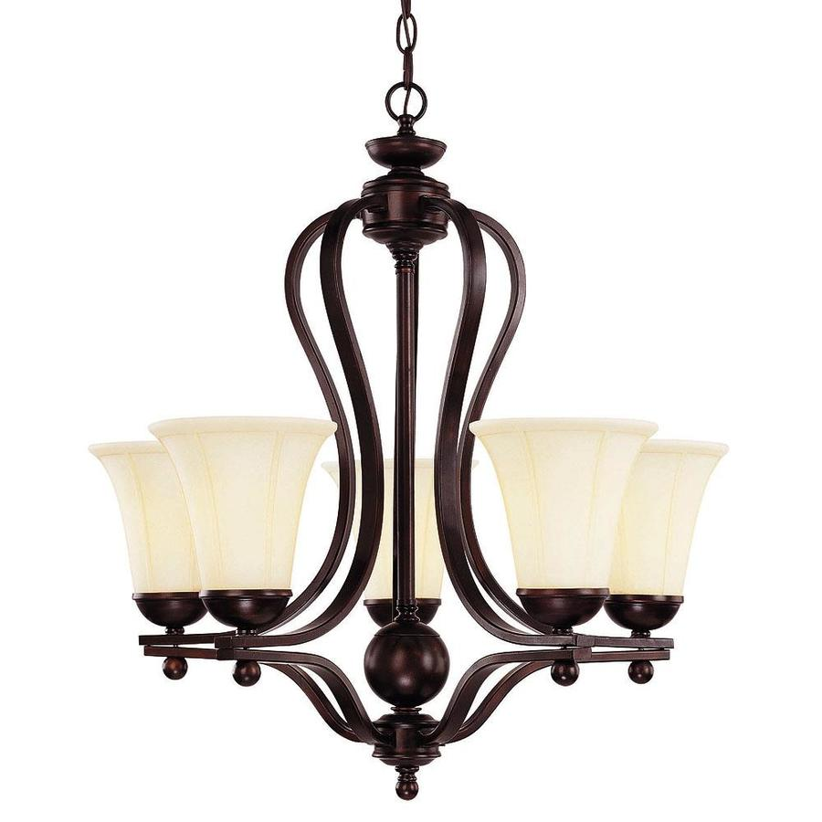 Shandy 26-in 5-Light English Bronze Candle Chandelier