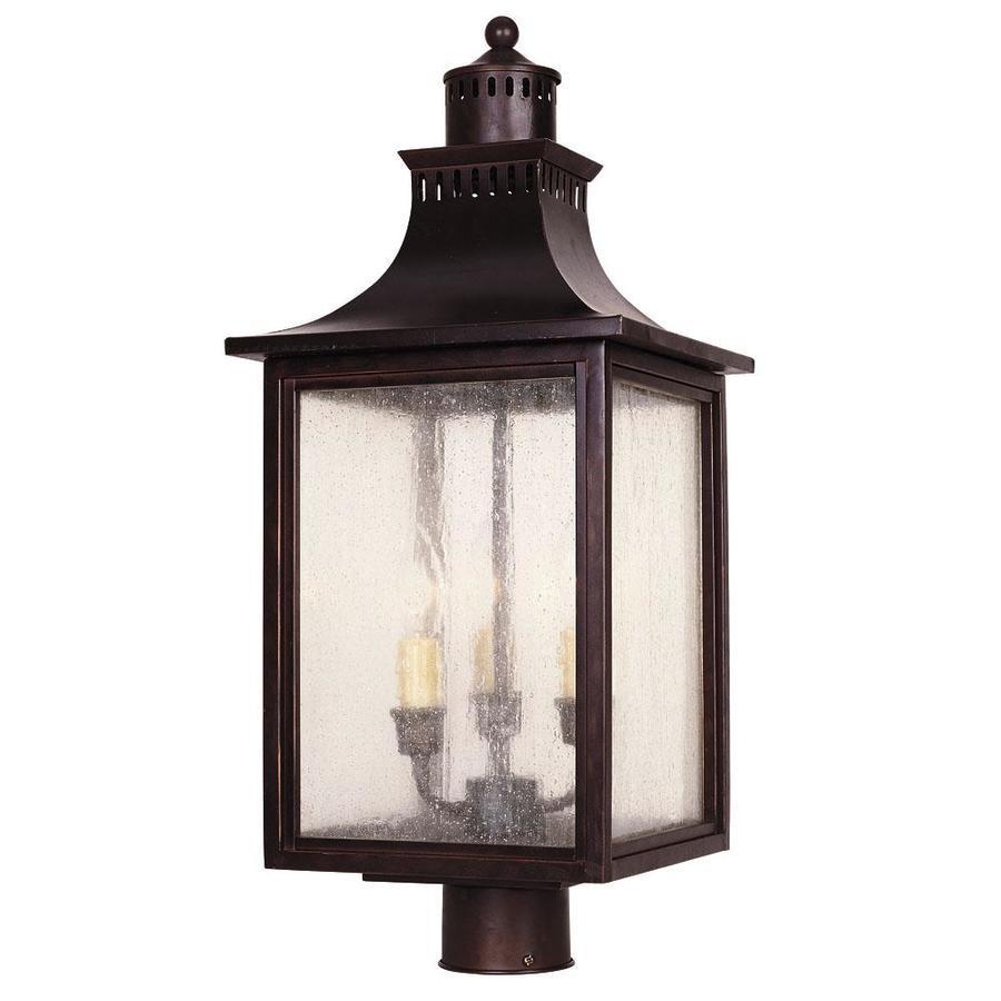 23.75-in H English Bronze Post Light