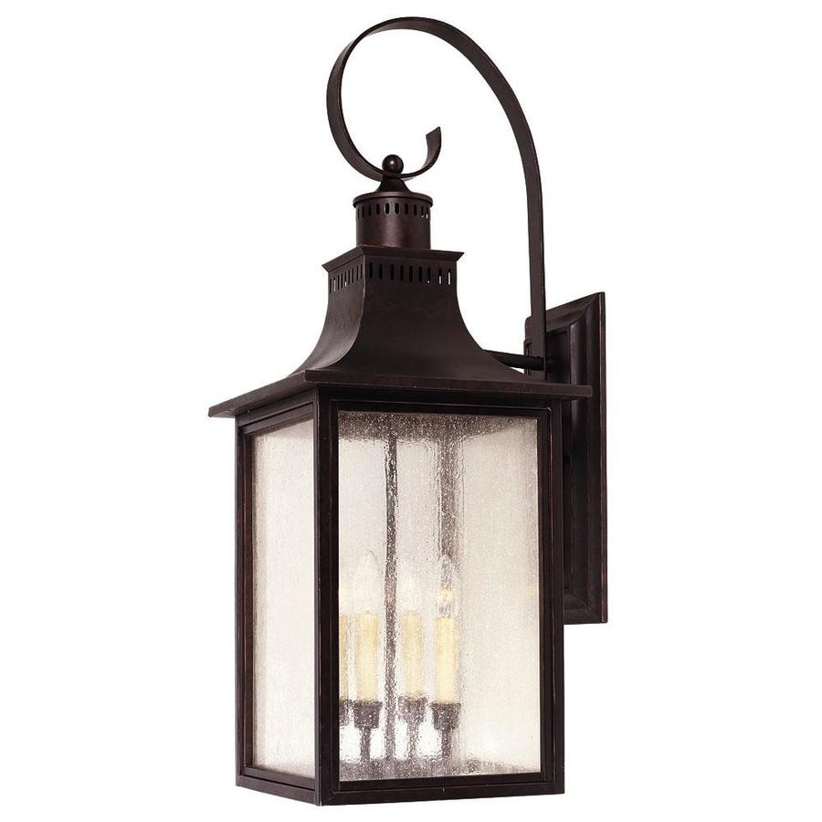 34.5-in H English Bronze Outdoor Wall Light