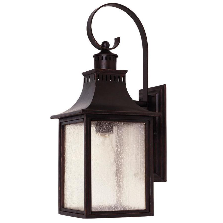 17.75-in H English Bronze Outdoor Wall Light