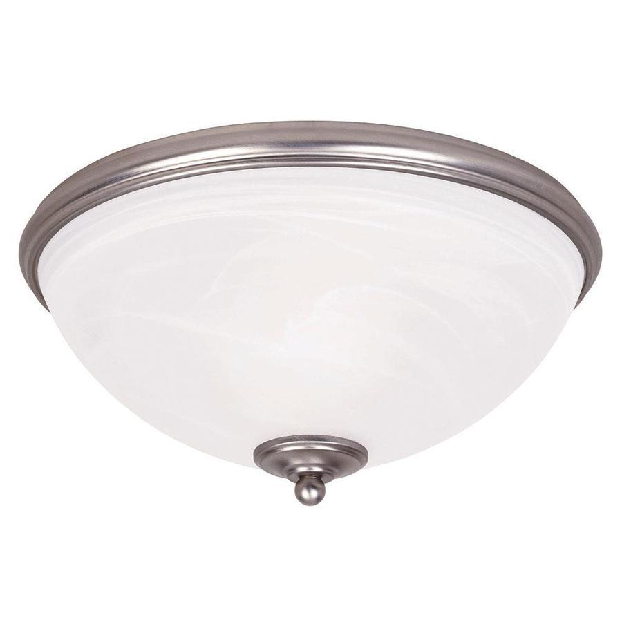 13-in W Pewter Ceiling Flush Mount Light