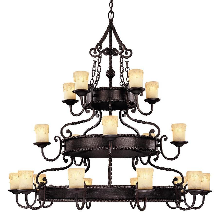 Shandy 52.87-in 20-Light Slate Candle Chandelier