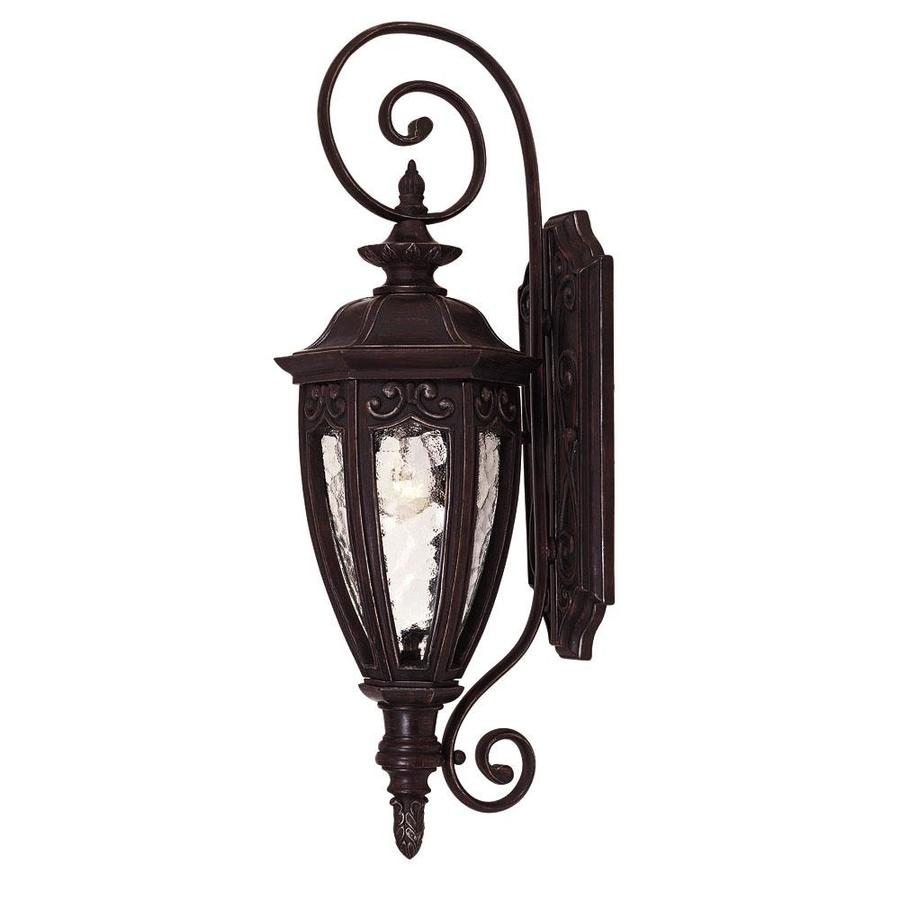 21-in H Bark and Gold Outdoor Wall Light