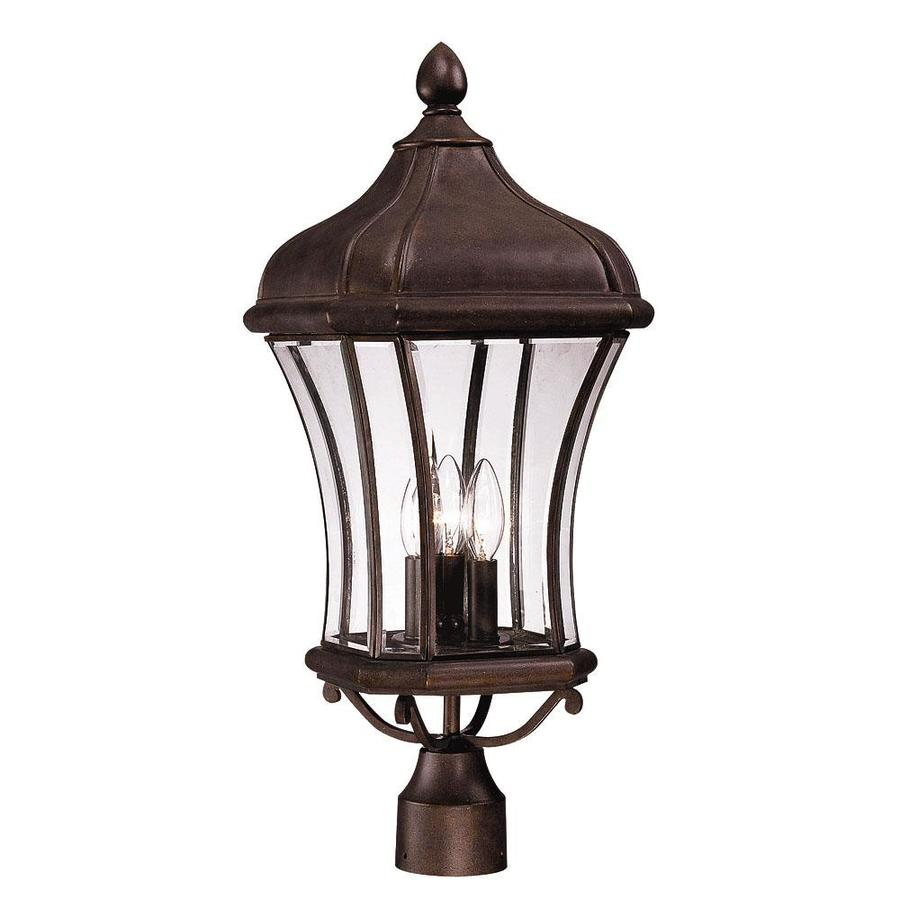 24.25-in H Walnut Patina Post Light