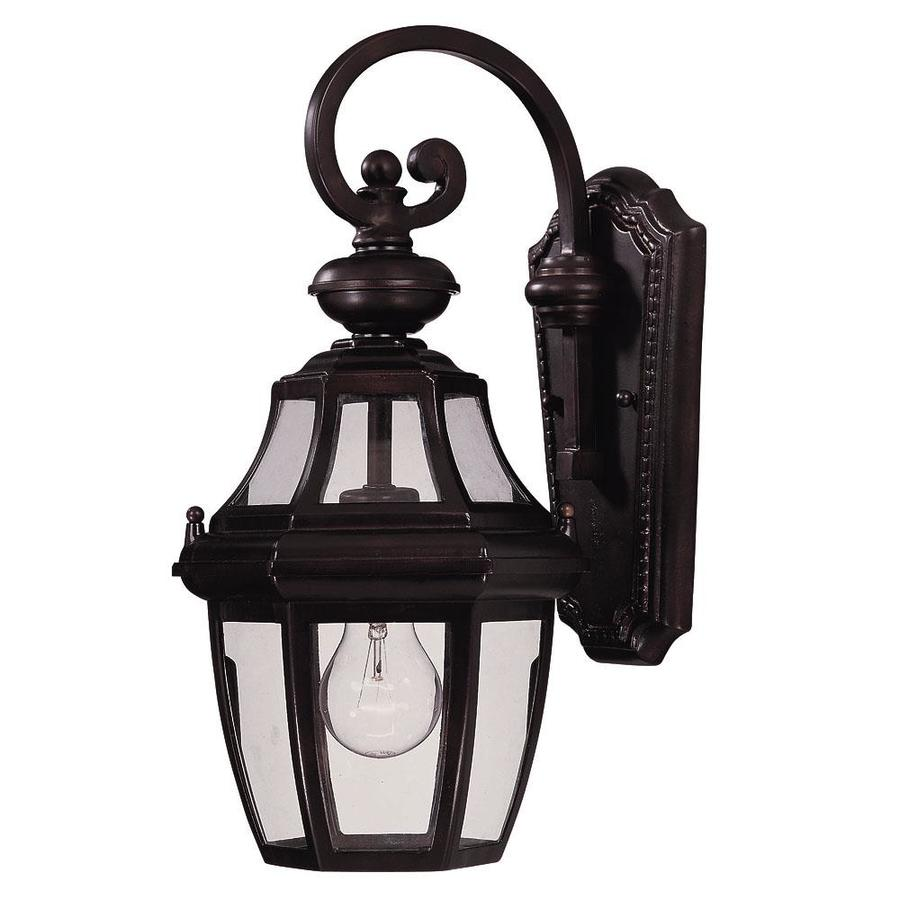 15.87-in H English Bronze Outdoor Wall Light