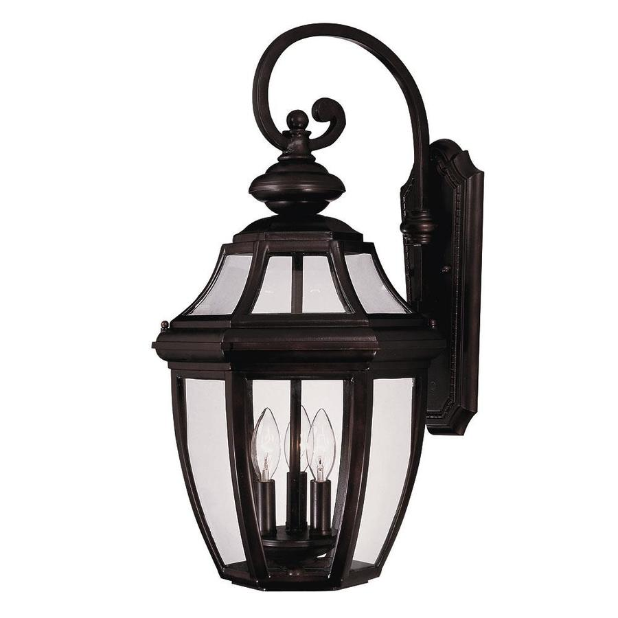 25-in H English Bronze Outdoor Wall Light