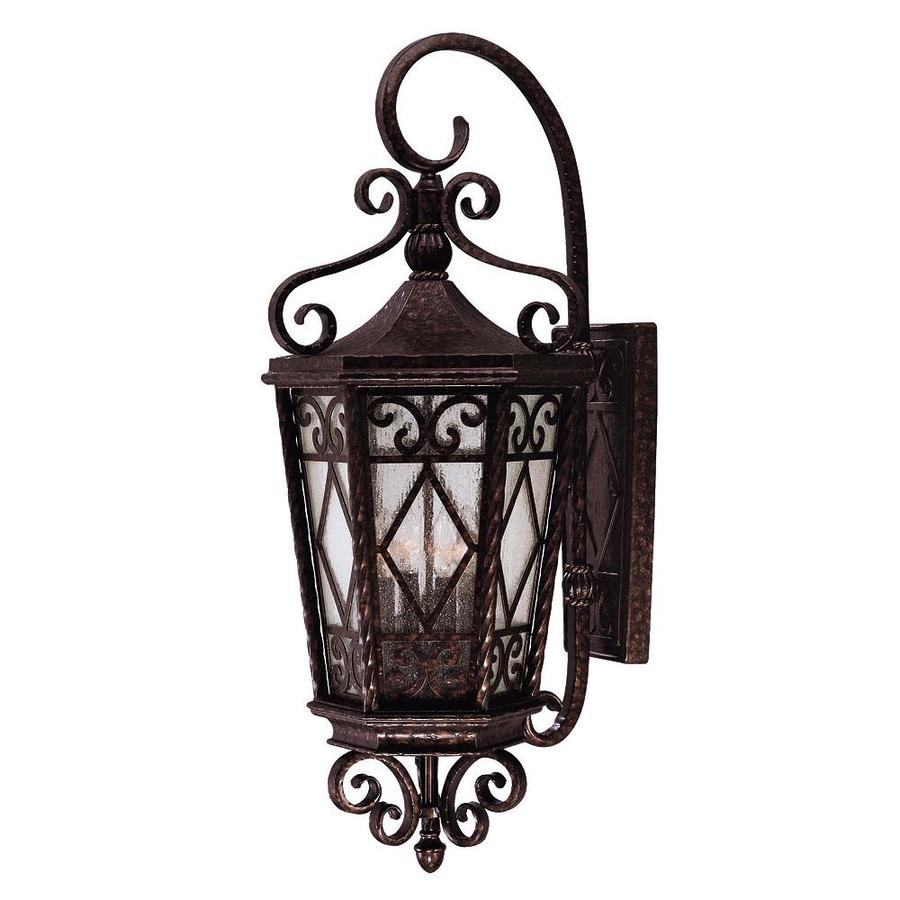 36.37-in H New Tortoise Shell Outdoor Wall Light