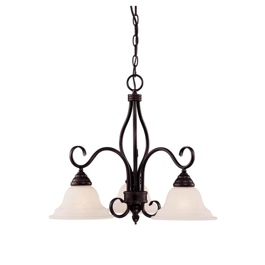 Shandy 23-in 3-Light English Bronze Candle Chandelier
