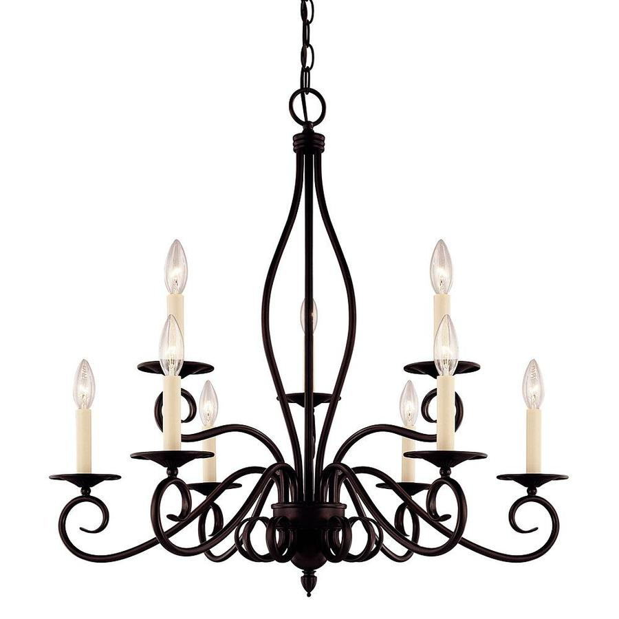 Shandy 29.25-in 9-Light English Bronze Candle Chandelier