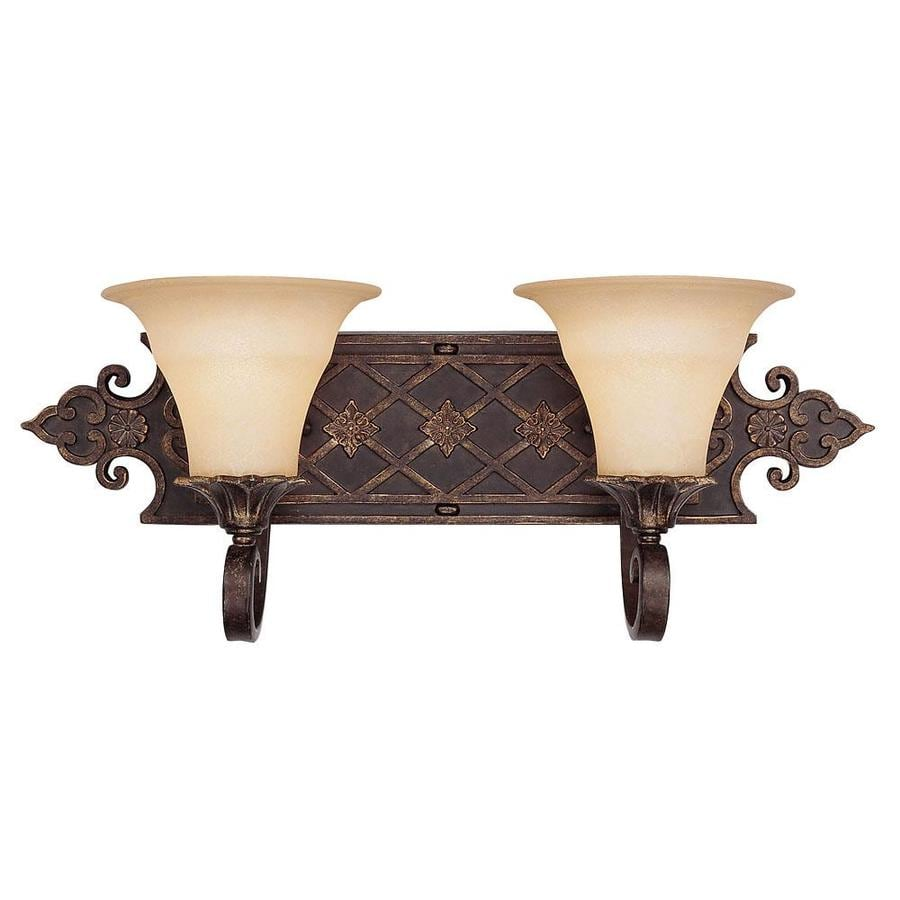 Shandy 2-Light Florencian Bronze Vanity Light
